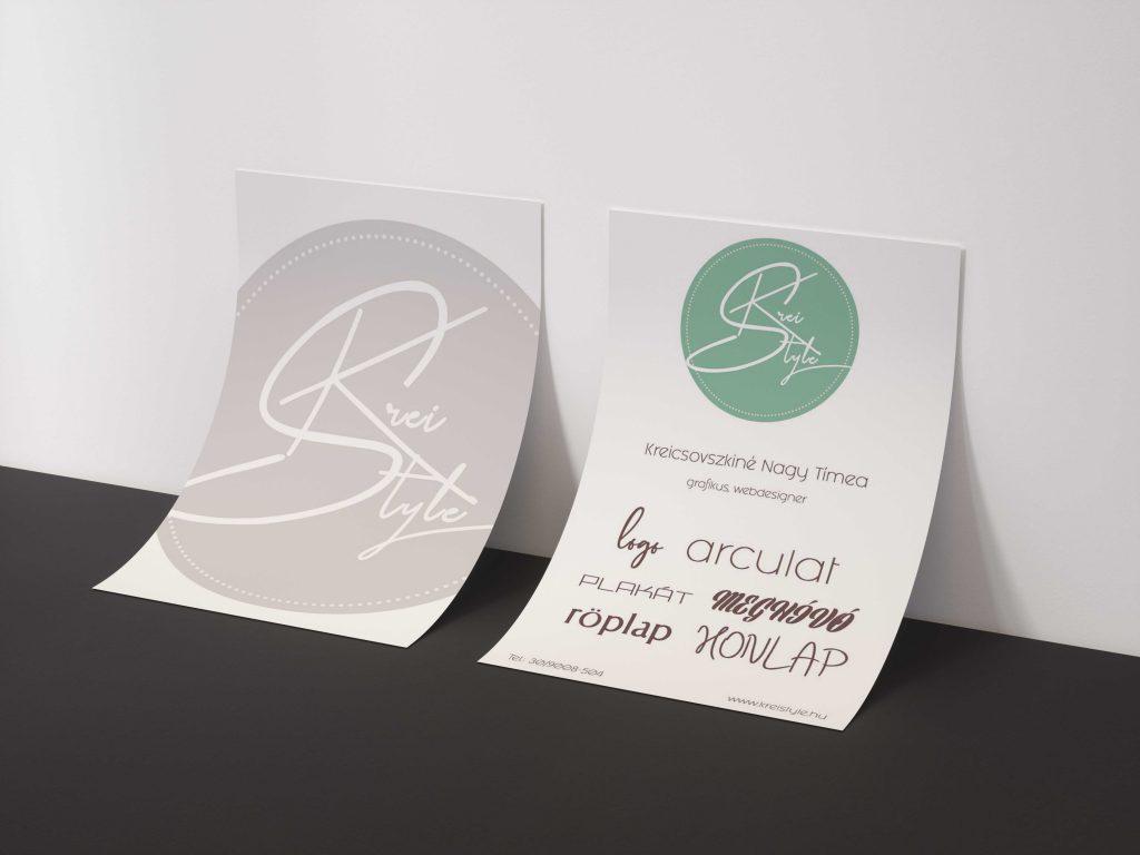 névjegykártya, logó, plakát, honlap, arculat tervezés